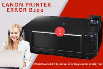 canon printer error b200